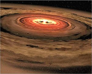 Artist's Impression of Accretion Disk
